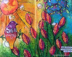 Art Colors Life - Art Journal Page - Birgit Koopsen