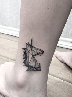 Geometric Unicorn Tattoo