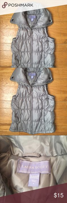 Gray puffy vest Gray puffy vest in great condition. Laura Scott Jackets & Coats Vests