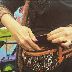 The Merida Mexican Textile and Leather Fanny by ThePieceCollection