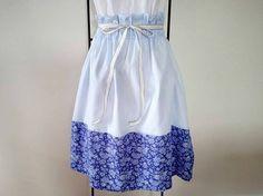 ★夏近!爽やかブルーのコードレーン+花柄・バイカラースカート★の画像1枚目