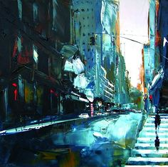 Acrylic Paintings of New York by Daniel Castan