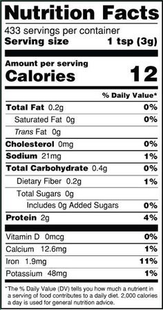 Blank Food Label Blank Nutrition Facts Label Label