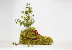 French Artist Christophe Guinet Combines Sneakers With Nature