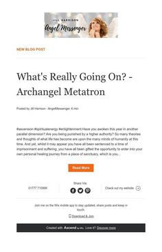 ${contact.Name.First} A Message From Metatron What Is Life About, News Blog, Author, Angel, Messages, Thoughts, Writers, Text Posts
