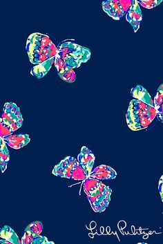 patterns.quenalbertini: Lilly Pulitzer Butterfly Design