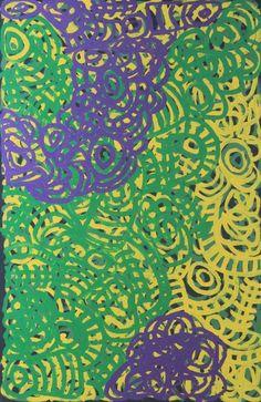 Anyupa Stevens Tjala Tjawani Acrylic on canvas, 100 x 66 cm Tjungu Palya APY Lands. For more Aboriginal art visit us at www.mccullochandmcculloch.com.au #aboriginalart #australianart #contemporaryart