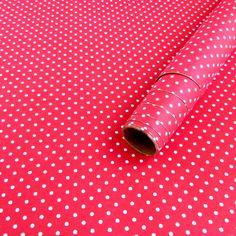 Tecido adesivo - Petit poá vermelho