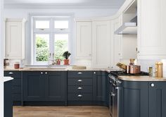 We design classic fitted kitchens, including shaker style, to perfectly complement your period home. country house or cottage. Georgian Kitchen, Shaker Style, Sweet Home, Kitchen Cabinets, Colours, Classic, Table, Kitchens, House