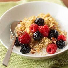 Fruit And Nut Quinoa, Diabetic Recipe No Calorie Foods, Low Calorie Recipes, Diabetic Recipes, Cooking Recipes, Healthy Recipes, Diabetic Foods, Tasty Meals, Meal Recipes, Brunch Recipes