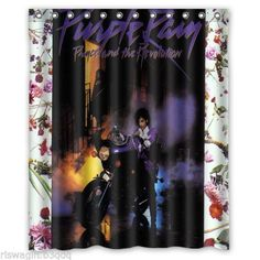 New-Prince-Purple-Rain-Custom-Fabric-Shower-Curtain-60x72-Inch