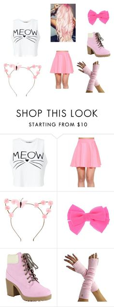 """Aphmau~ Kawaii~chan"" by moekamomo ❤️ liked on Polyvore featuring Miss Selfridge, claire's and Reneeze"