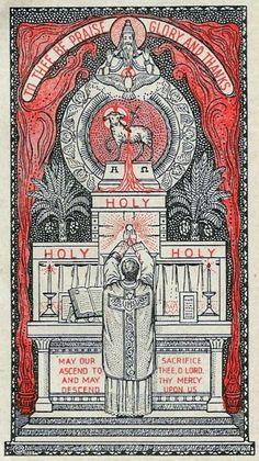 Woodcuts, Engravings, and Illustrations Catholic Mass, Catholic Bible, Roman Catholic, Christian Symbols, Christian Faith, Vintage Holy Cards, Christian Artwork, Religion Catolica, Christ The King