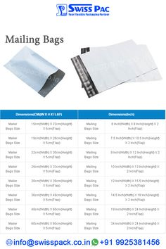 Our high quality #MailingBags are highly regarded due to their optimal tearing strength, fine finish and excellent durability. To inquire more visit at http://www.swisspack.co.in/mailing-bags/