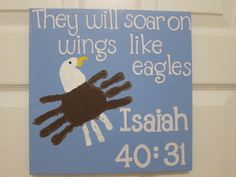 Bible Kids Craft   Handprint American Flags & Eagles {Patriotic crafts Round Up}