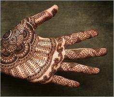 mehindi palm tattoo