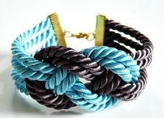 Learn how to make this easy and inexpensive DIY nautical knot bracelet. This easy knotted cord bracelet is perfect for summer. Sailor Knot Bracelet, Bracelet Knots, Knot Necklace, Cord Bracelets, Bracelet Making, Jewelry Making, Knotted Bracelet, Diy Bracelet, Cheap Jewelry