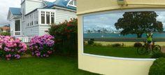 Devonport in reflection.