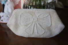 Vintage Purse Evening Bag Ivory Art Deco Great by trinkets818, $58.00