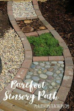 Barefoot sensory foot path
