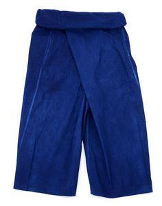 WRAPPED PANTS Wide silhouette 100% Organic cotton (broad) Natural dyes NATURAL INDIGO: Ryukyu-indigo herbal dye