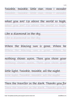 Twinkle, Twinkle, Little Star's Italic Handwriting Worksheets images ideas from Best Worksheets Collection Cursive Handwriting Practice, Cursive Writing Worksheets, Calligraphy Worksheet, Handwriting Alphabet, Improve Your Handwriting, Handwriting Analysis, Calligraphy Handwriting, Handwriting Exercises, Fancy Handwriting