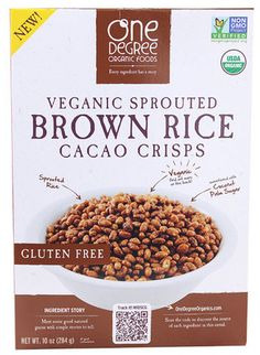 #vegan One Degree Organics Brown Rice Cacao Cereal
