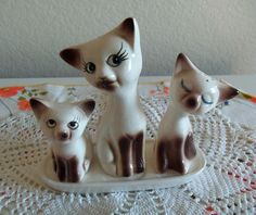 Salt and Pepper Set Toothpick Holder Siamese by CleosTreasures, $20.00
