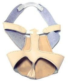 Leather Half-Shoe for Belly Dance (pair) - NUDE