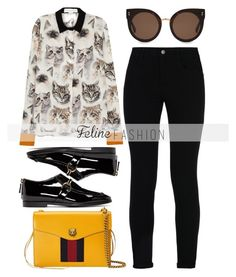 """Feline Fashion"" by alaria ❤ liked on Polyvore featuring STELLA McCARTNEY, Gucci and catstyle"