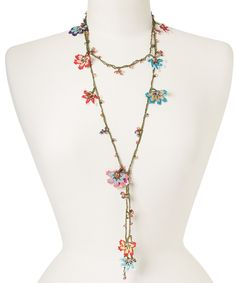 Another great find on #zulily! Multi-Color Party Flowers Lariat Necklace by Meredith Strauss #zulilyfinds