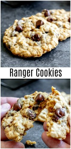 This easy Ranger Cookies recipe (sometimes called Texas Ranger cookies) is made with chocolate chips, oatmeal, and Rice Krispies. You can also make them with corn flakes and coconut. Ranger cookies are an old fashioned cookie recipe that makes the best so Recipes Using Rice Krispies, Cookies With Rice Krispies, Chocolate Rice Krispies, Rice Krispie Treats, Cornflake Recipes, Old Fashioned Cookie Recipe, Oatmeal Chocolate Chip Cookie Recipe, Rice Crispy Cookie Recipe, Cookies With Chocolate Chips