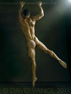 Nude swinging beauty by photographer David Vance
