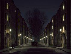 Dark City - Victorian housing blocks, SW1