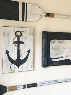 Where can i find nautical decor. Pirate or nautical decoration is being popular at fast rate even in the neighborhoods that are not generally interested in nautical or coastal life. Oar Decor, Nautical Theme Decor, Nautical Bedroom, Nautical Bathrooms, Nautical Design, Nautical Home, Coastal Decor, Nautical Interior, Bathroom Beach