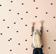 Black Heart Wall Stickers Hearts Wall Decals Mini by tayostudio Childrens Wall Stickers, Vinyl Wall Stickers, Wall Decals, Wall Vinyl, Girl Room, Girls Bedroom, Bedrooms, Neon Design, Heart Wall