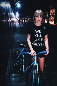 girl + bike, We kill bike thieves! #bike #fixie