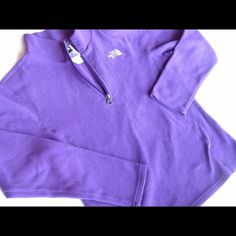 WINTER SALENorth Face Half Zip ****Girls Large fits like adult XS or possibly XXS                           Purple North Face fleece zip up! Gently used but still very soft and in great condition! The North Face Jackets & Coats