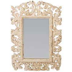 Large Baroque Acanthus Mirror in Crossroads Rosa