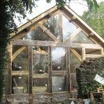 Oak framed gable #timberframe #oak
