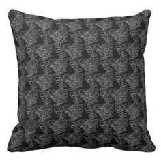 Black+White+Grey+Abstract+Zigzag+Pillow