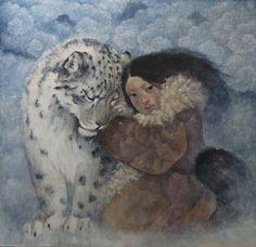 El cielo es de color blanco Pintura de Lucy Campbell