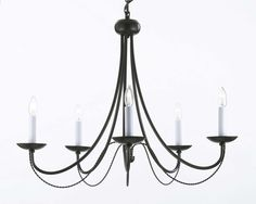 Shop for Wrought Iron Chandelier Lighting x With Swag Plug In Chandelier Lighting Chandelier. Get free delivery On EVERYTHING* Overstock - Your Online Ceiling Lighting Store! Get in rewards with Club O! Black Iron Chandelier, Plug In Chandelier, Wrought Iron Chandeliers, Crystal Chandelier Lighting, Chandelier Ideas, Pendant Lights, Country Chandelier, French Chandelier, Farmhouse Chandelier