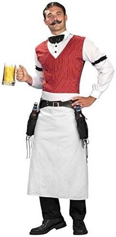 9e7eb57f5aa5a eBay  Sponsored Forum Novelties Men s Plus-Size Bartender Plus Size Costume  Multi Plus Plus