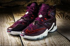 MENS NIKE LEBRON JAMES XIII 13 WRITTEN IN STARS BASKETBALL MULBERRY SHOES - 12