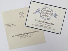 Engagement Party invitation - rustic