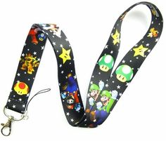 Super Mario Bros Style # 2 Lanyard Neck Strap Cell Phone ID Badge Holder -- Awesome products selected by Anna Churchill