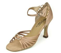 "Hailey Bronze Satin/Rhinestone 3 1/2"" Heel"