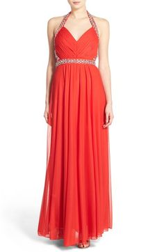 Sequin Hearts 'Vanna' Embellished Halter Gown available at #Nordstrom