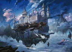 查看《天空之城》原图,原图尺寸:1404x1014